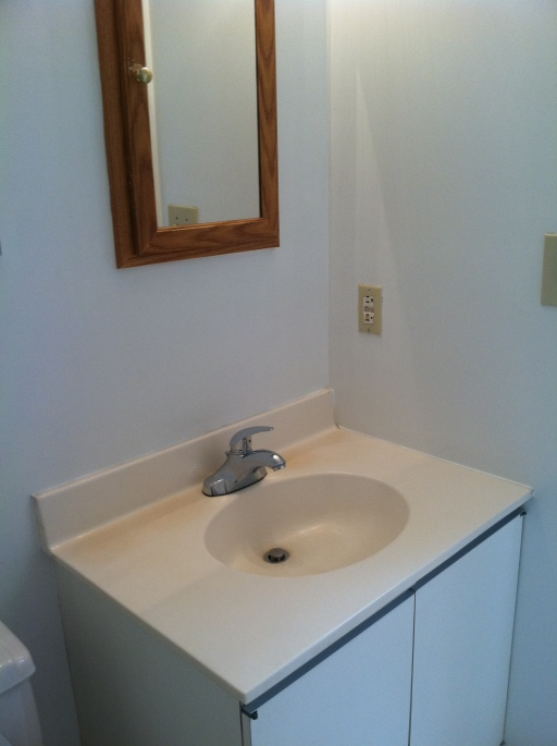 Small Tiny Apartment Bathroom before and after makeover apartment envy painting decorating weekend project DIY