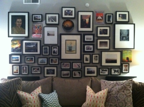gallery wall process how to before and after makeover