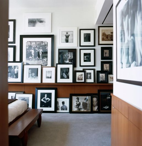 gallery wall inspiration frames art wall photography leaning photo ledge picture