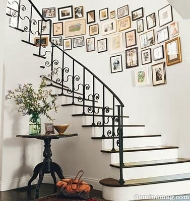 gallery wall staircase inspiration frames art going up stairs wall photography