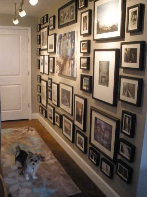 gallery wall process how to before and after makeover apartment envy living room