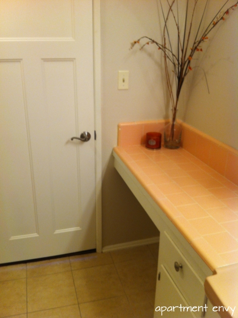 pink bathroom tile decorating interior design before and after painting apartment envy