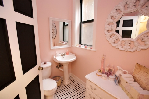 pink bathroom tile interior design decorating ideas
