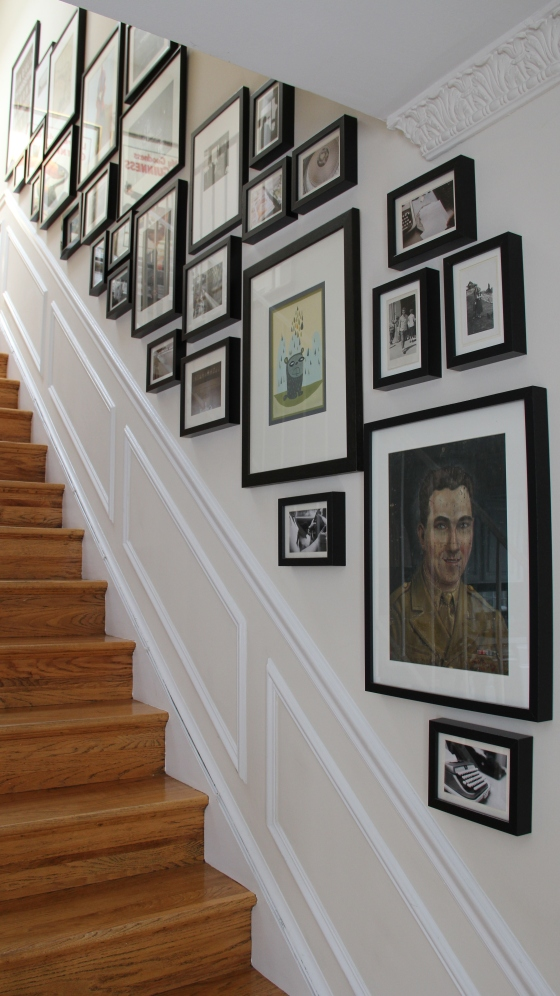 staircase before and after makeover gallery wall