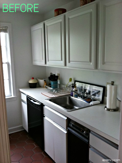 Before After Kitchen Cabinet Makeover Apartment Envy