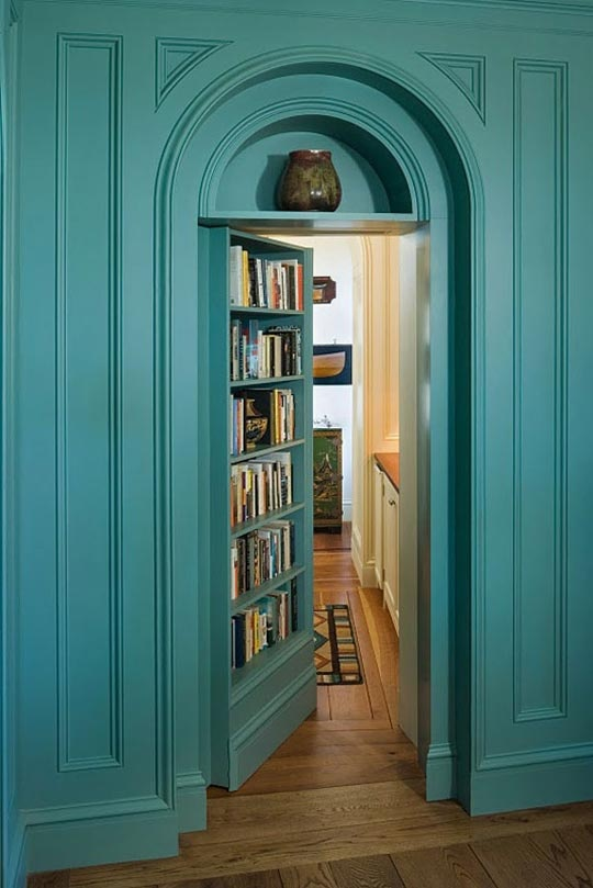 bookshelf hidden door plans